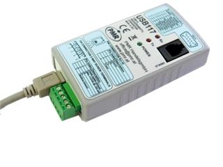 USB Schnittstellenwandler:   USB117 Universal- Schnittstellenwandler  Konfigurationsset für PMA Geräte;